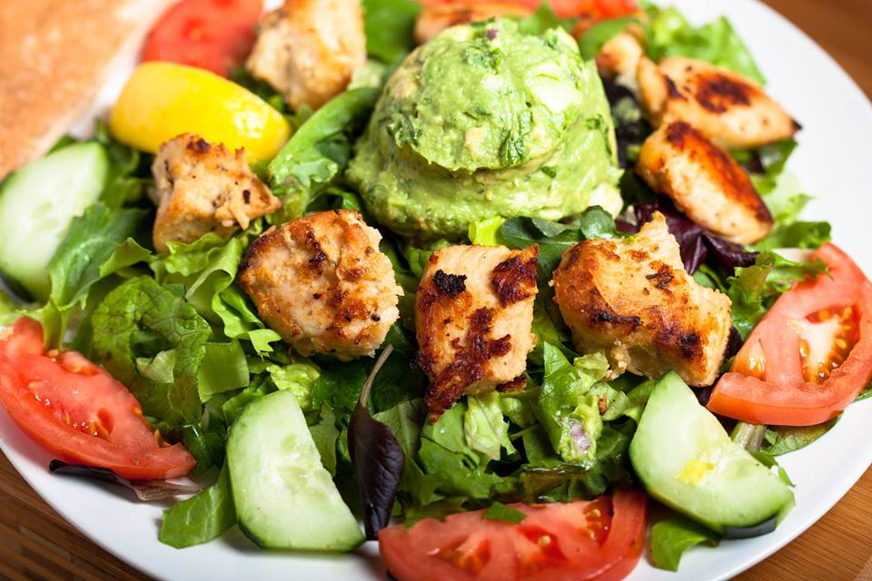 Chicken & Guacamole Salad